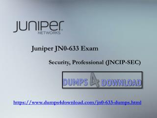 Buy Discount Juniper JN0-633 Exam Questions PDF | Dumps4download.com
