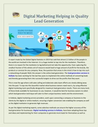 Digital Marketing Helping in Quality Lead Generation