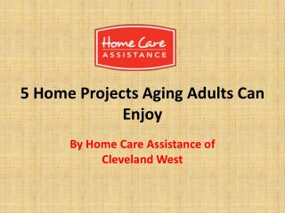5 Home Projects Aging Adults Can Enjoy