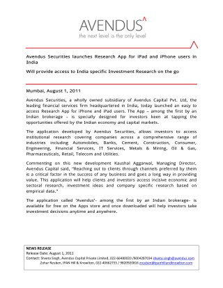 Avendus Capital Private Limited