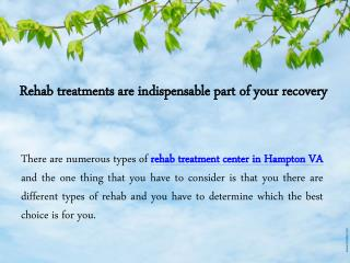 Rehab Treatment Center in Hampton VA