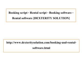 Booking script - Rental script - Booking software - Rental software