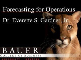 Forecasting for Operations