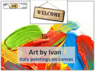 Best Italy paintings on canvas for sale