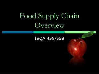 Food Supply Chain Overview
