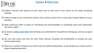 Cushions & Pillow Cover