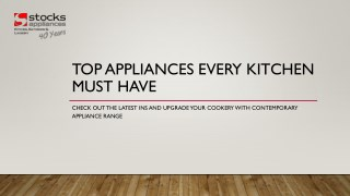 Top Appliances Every Kitchen Must Have