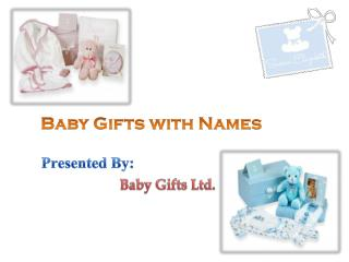 Baby Gifts With Names