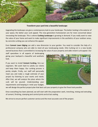 Transform your yard into a beautiful landscape