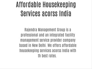 Affordable Housekeeping Services New Delhi