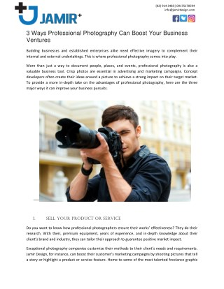 3 Ways Professional Photography Can Boost Your Business Ventures