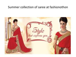 At Fashionothon Corporate wear sarees can be of any fabric like pure silk, pure cotton, georgette