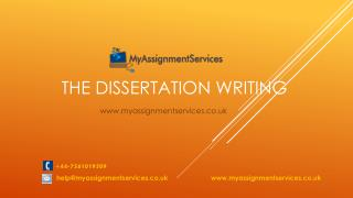 Dissertation Help and Assignment Writing Services UK