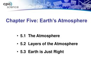 Chapter Five: Earth s Atmosphere