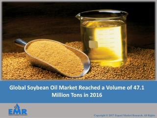 Soybean Oil Market Share, Size, Price Trends, Industry Outlook and Growth Rate From 2017 To 2022