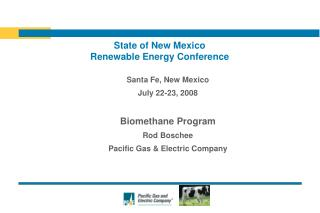State of New Mexico Renewable Energy Conference