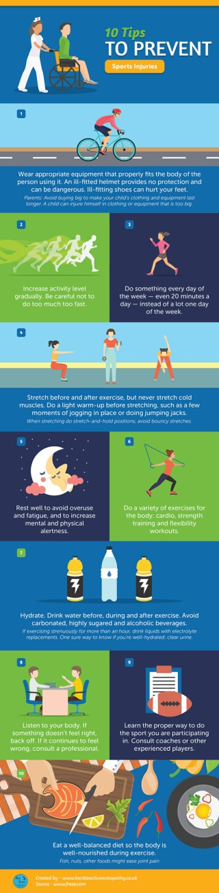 10 Tips to Prevent Sports Injuries