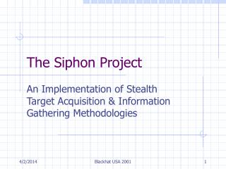 The Siphon Project