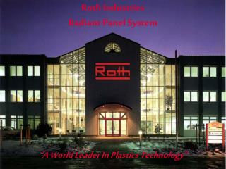 Roth Industries Radiant Panel System