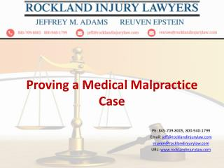 Proving a Medical Malpractice Case