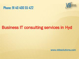 Business consulting services in Hyd