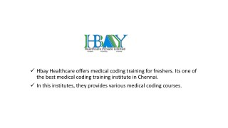 Medical Coding Courses in Chennai | Hbay Healthcare