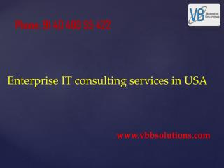 Enterprise IT consulting services in USA