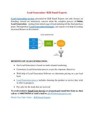 Lead Generation | B2B Email Experts
