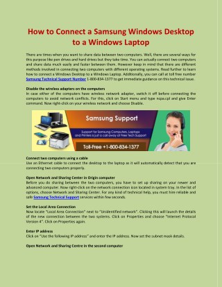 How to Connect a Samsung Windows Desktop to a Windows Laptop