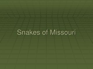 Snakes of Missouri