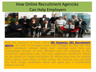 How Online Recruitment Agencies Can Help Employers