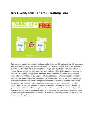 Buy 1 Fortify and GET 1 Free | Fast&Up India
