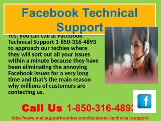 24/7 Facebook Technical Support Technical 1-850-316-4893 for the patrons