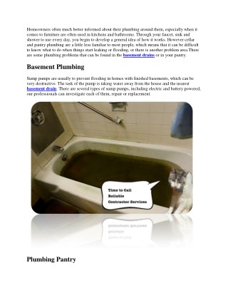 Basement And Room Plumbing Services