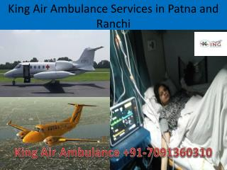 King Air Ambulance Services in Ranchi with Affordable Cost