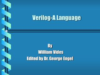 Verilog-A Language