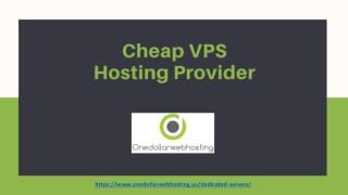Cheap VPS Hosting Provider