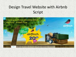 Design Travel Website with AirBnb Script
