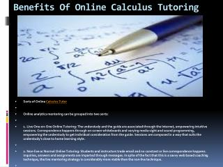 Online Calculus Tutoring