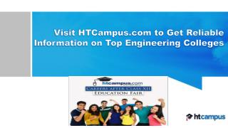Visit HTCampus.com to Get Reliable Information on Top Engineering Colleges