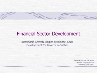 Financial Sector Development