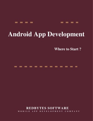 Where to Start Android App Development?