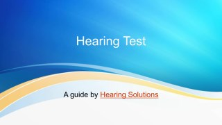 How to do a Hearing Test