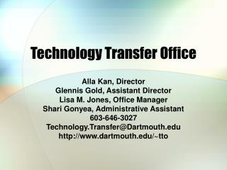 Technology Transfer Office