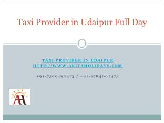Taxi Provider in Udaipur Full Day