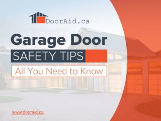 Safety Checklist - Garage Doors in Vancouver BC