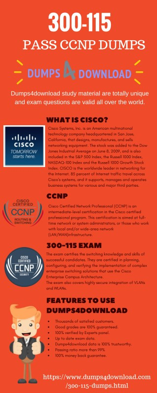 CCNP 300-115 Exam 100% Passing Guarantee | Dumps4Download.com