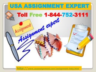USA Assignment Expert Toll Free :1-844-752-3111