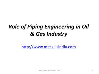 Role of Piping Engineering in Oil & Gas Industry