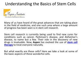 Stem Cell Therapy- Aspen-regenerativemedicine.com